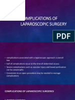 Complications of Laparoscopic Surgery