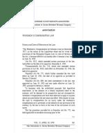 Workmen's Compensation Law - Annotation