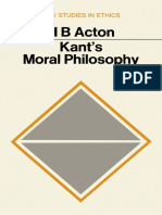 Acton - Kants Moral Philosophy