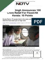 Rajnath Singh Announces 100 Crore Relief for Flood-Hit Kerala_ 10 Points
