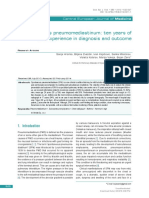 [Open Medicine] Spontaneous Pneumomediastinum Ten Years of Our Experience in Diagnosis and Outcome