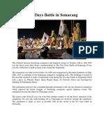 Five Days Battle in Semarang
