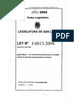 Legajo Ley I-0015-2004