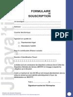 Formulaire de Souscription Djibayatic