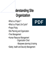 Notes on ME101 - Understanding Site Organisation Rev 5