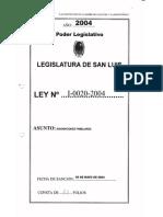 Legajo Ley I-0020-2004