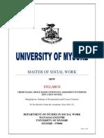 MSW-Syllabus