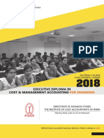 Executive Diploma in Cost & Management Accounting for Engineers