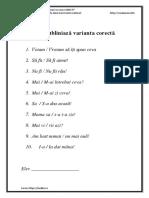 Test - Cum Se Scrie CORECT