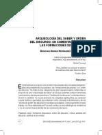 Arqueologia del Saber y Orden de Discurso. Un Comentario sobre Las Formaciones Discursivas.pdf