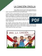 Día de La Canción Criolla