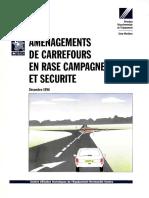 Aménagement de Carrefours en Rase Compagne Et Securité