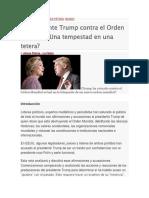 El Presidente Trump Contra El Orden Mundial