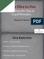 Avoiding the Top 10 Legal Mistakes