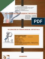 Valoración en Terapia Manual Ortoétdica