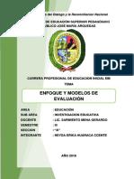 Enfoque y Modelos de Evaluacion