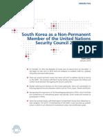 Kerjaan Korea Selama UNSC