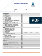 Electrical Survey Checklist
