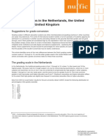 Grading Systems in the Netherlands the United States and the United Kingdom