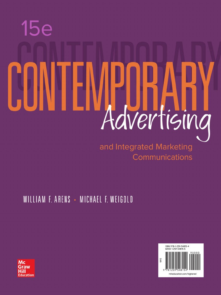 366cd6a8 Contemporary_Advertising_William_Arens.pdf | Marketing Communications |  Advertising
