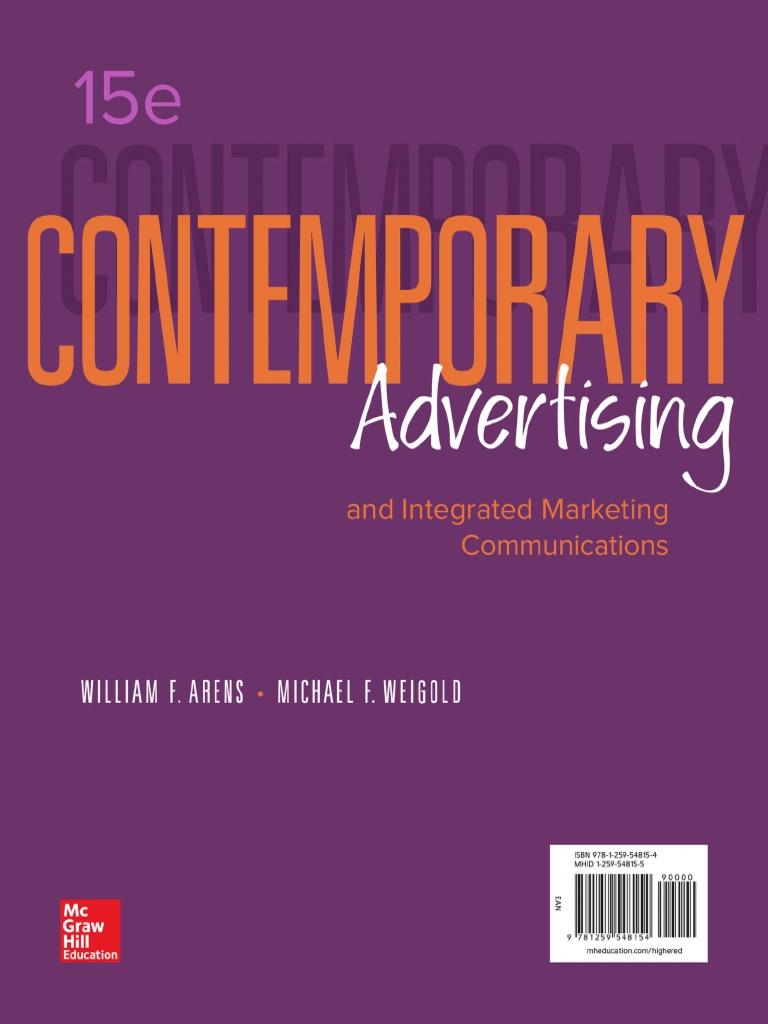Contemporary_Advertising_William_Arens pdf | Marketing