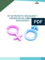 Kit de Sexualidad y Prevención Del Embarazo Adolescente