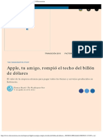 Apple, Tu Amigo, Rompió El Techo Del Billón de Dólares El Economista