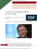 La Regla de Las 5 Horas Utilizada Por Bill Gates, Jack Ma y Elon Musk Economía