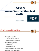 A1836092358 21826 15 2018 Lecture 28(Single Source Shortest Path)
