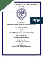 Informe Lectura (3) Cuencas Hidrograficas