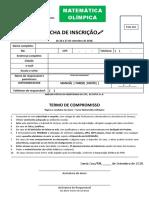 Ficha de Inscrição - Matemática Olímpica