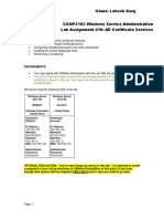 COMP2102 Lab 10 - AD Certificate Services