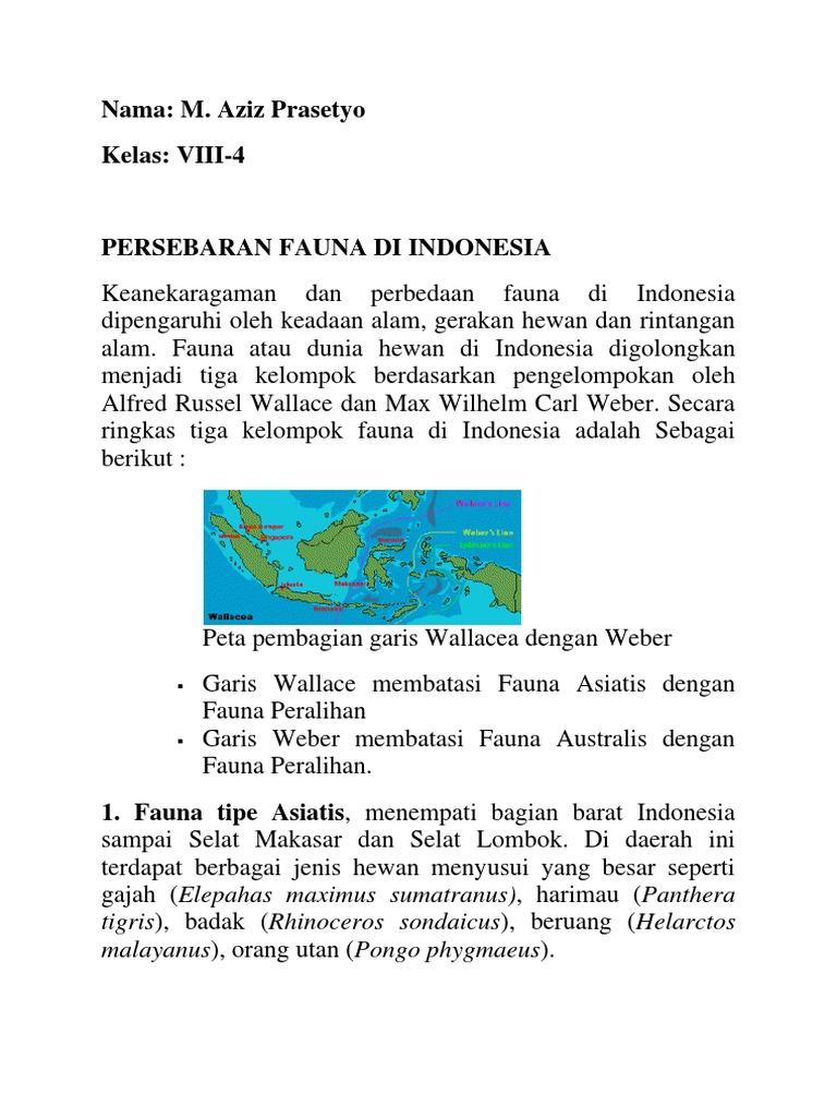 44++ Peta persebaran fauna hewan di indonesia terbaru