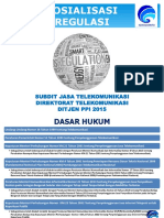 Sosialisasi Regulasi Subdit Jasa Telekomunikasi Ditjen PPI 2015