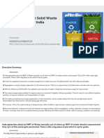 Opportunities in Solid Waste Management in India