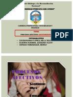 PROCESOS AFECTIVOS  (SENTIMIENTOS)