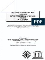 The Role of Schools and Teachers in the Promotion of Human