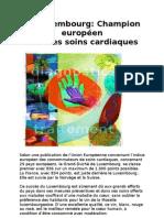Soins cardiaques -  Le Luxembourg Champion Européen