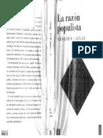 E. Laclau - La Razón Populista