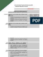 Cronograma de Actividades Proyecto de Democracia 2018