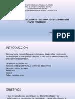 Características de Crecimiento y Desarrollo en Las Diferentes Etapas Pediátricas