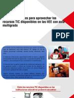 Recomendaciones Para Aprovechar Los Recursos Tic Disponibles en Las Iiee