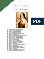 Oraciones de Santa Teresa de Lisieux
