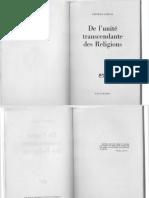 FR - 1948 - Frithjof Schuon - De lUnité Transcendante des Religions (édition Gallimard 1948).pdf