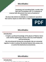 Micro Fluidics