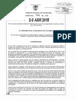 Decreto 744 Del 30 de Abril de 2018