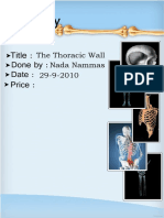 Anatomy, Lecture 3, The Thoracic Wall (Lecture notes)