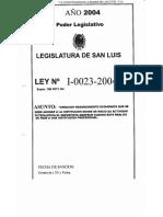 Legajo Ley I-0023-2004