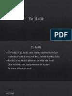 Tradução para espanhol do hino Eu achei.pptx
