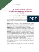 análisis de la batería de riesgo psicosocial